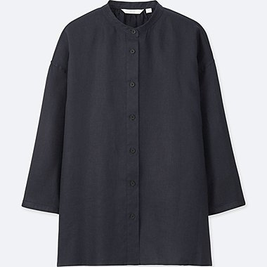 DAMEN Bluse aus Premiumleinen