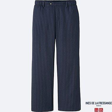 INES Pantalon Large Toucher Soie Entretien Facile FEMME