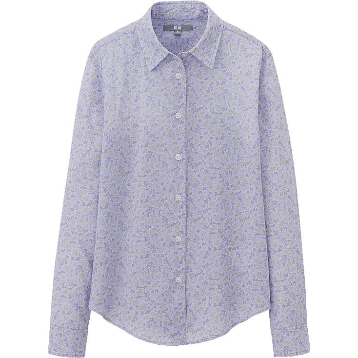 WOMEN COTTON LAWN PRINT LONG SLEEVE SHIRT