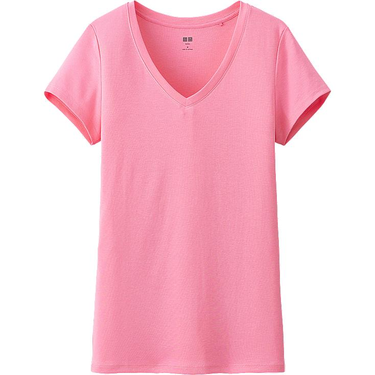 WOMEN SUPIMA COTTON MODAL V-NECK SHORT SLEEVE T