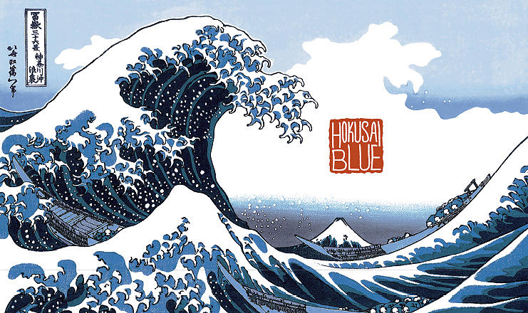 HOKUSAI. A modern interpretation of the gorgeous woodblock prints of Japan.
