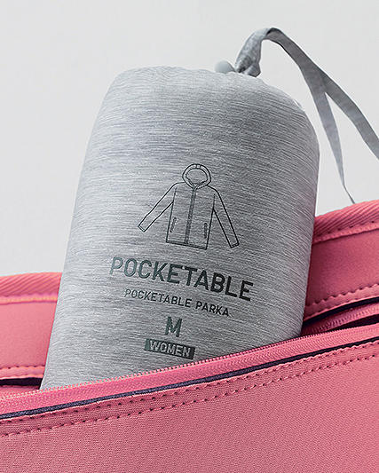 pocketable parkas. Water-resistant, easy-to-pack jackets to stow and go.