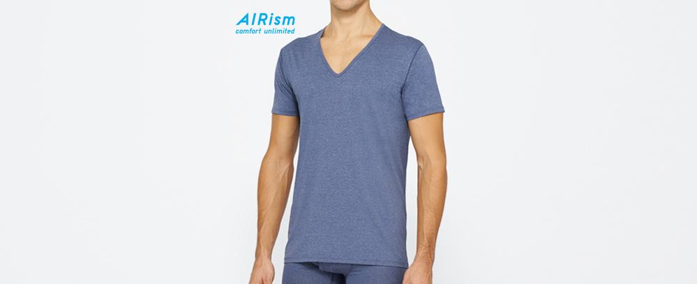男裝 AIRism V領T恤 (短袖)