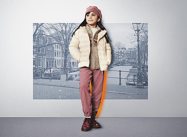 Girls warm-lined pants hero banner