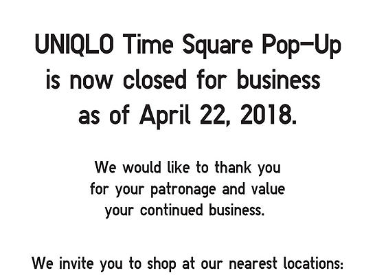 UNIQLO · Times Square Pop Up Store
