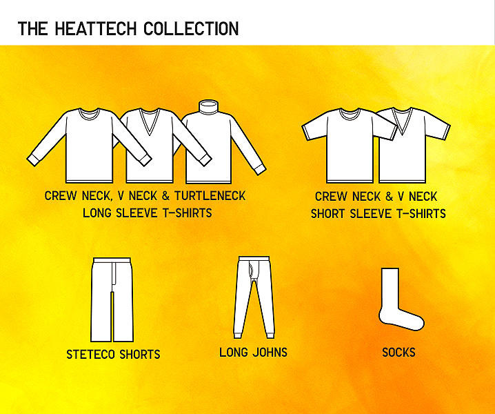 range of heattech products