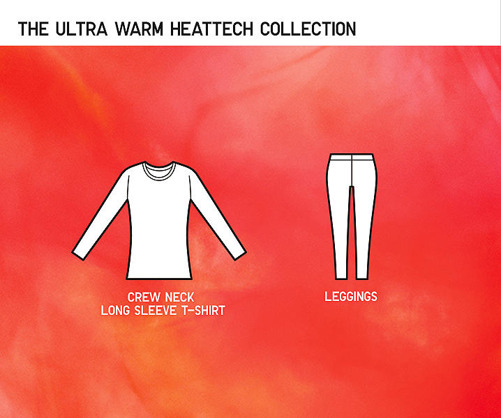 illustration of items in ultra warm heattech range