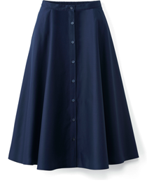 Front button circular skirt