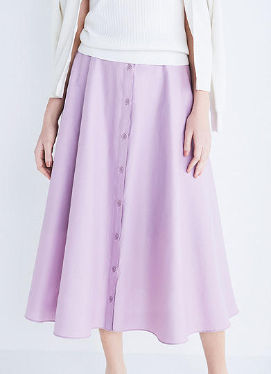 FRONT BUTTON CIRCLE SKIRT