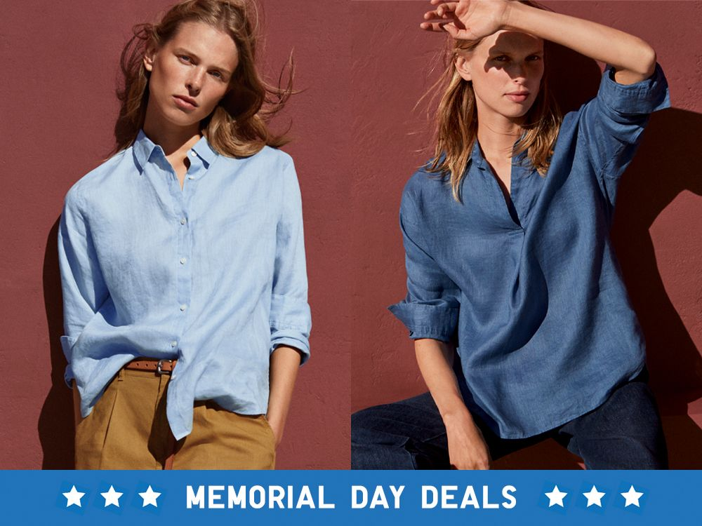 women premium linen long-sleeve shirts