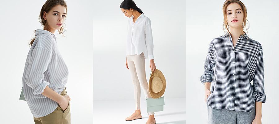 d8df803d Women's linen Shirts & Blouses | UNIQLO UK