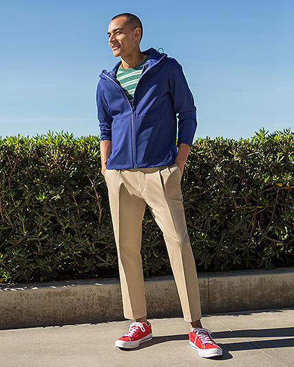 Relaxed Ankle Pants for men
