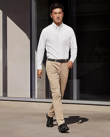 men slim + skinny fit chinos