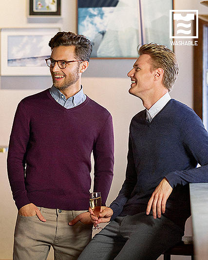 men EXTRA FINE MERINO SWEATERS