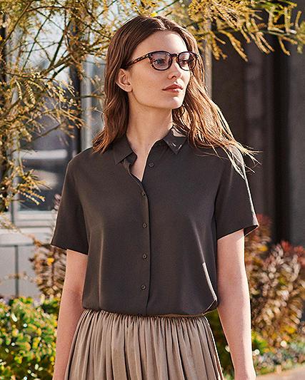 rayon short sleeve blouses