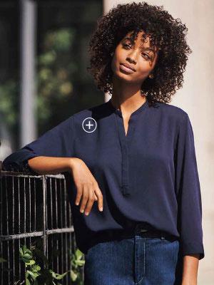 ce6d123c6d11d Camisas Y Blusas De Mujer Uniqlo
