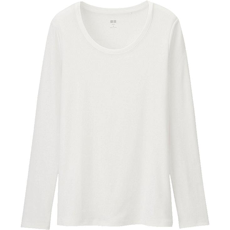 WOMEN Supima Cotton Crew Neck Long Sleeve T