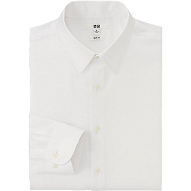 HERREN Oxford Stretch Slim Fit Easy Care Hemd Langärmlig