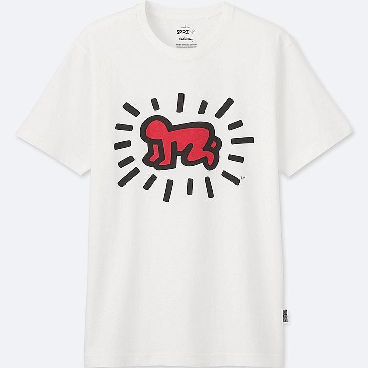 HERREN T-Shirt Bedruckt SPRZ NY Keith Haring
