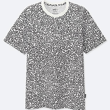 MEN SPRZ NY Keith Haring Graphic T-Shirt Keith Haring