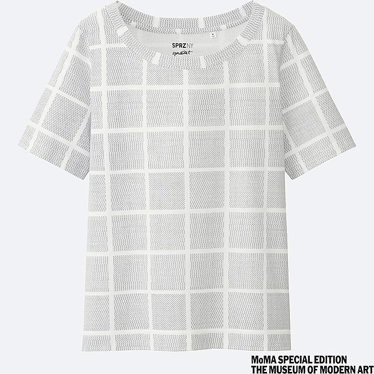 WOMEN SPRZ NY Short Sleeve Graphic T-Shirt (Francois Morellet)
