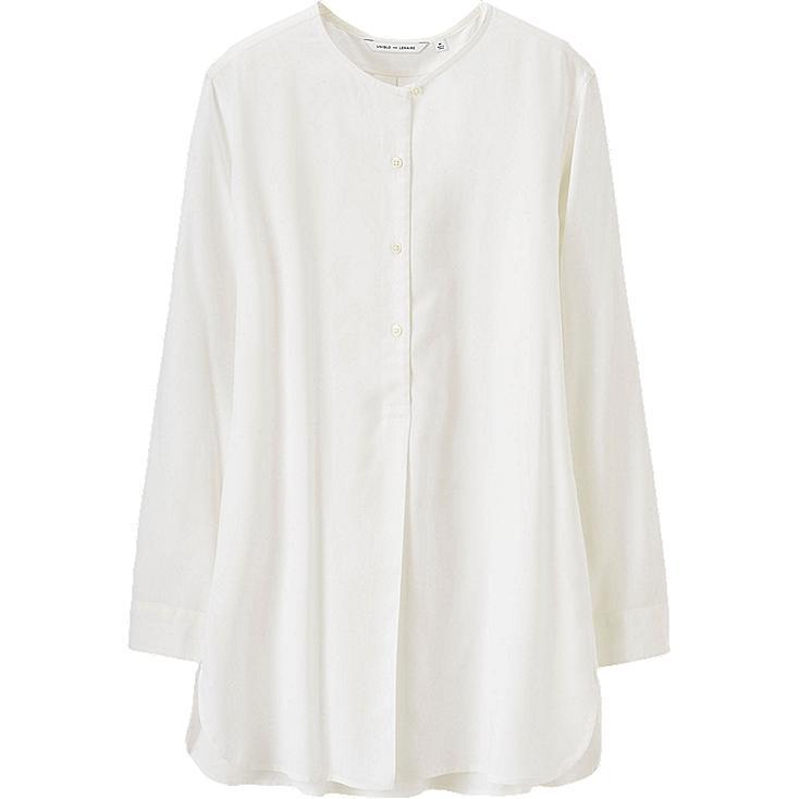 WOMEN LEMAIRE Rayon No Collar Long Sleeve Long Shirt