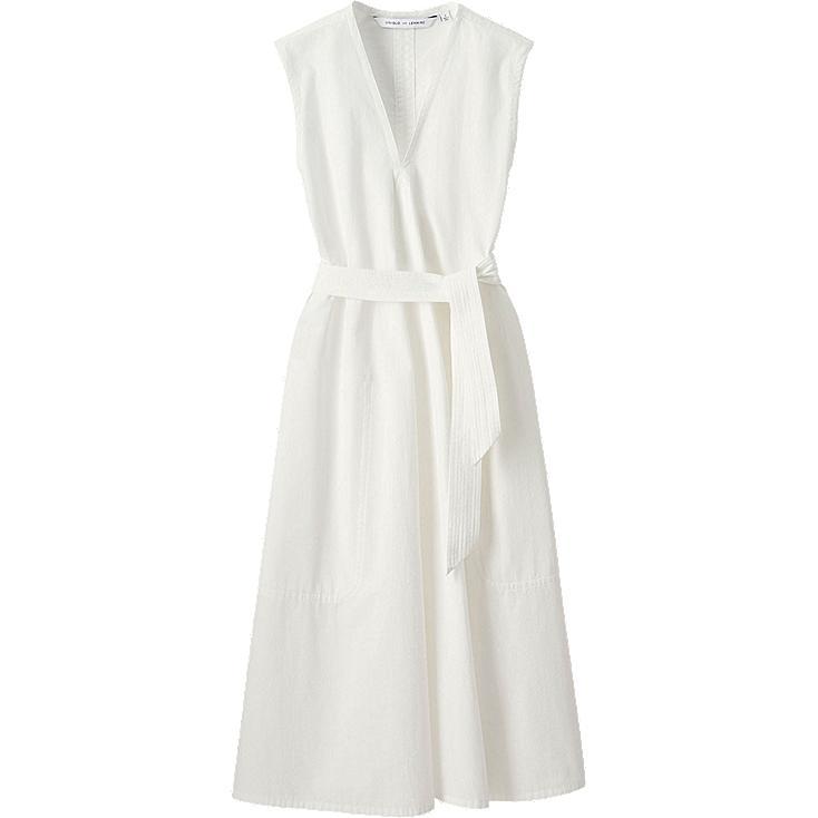 WOMEN LEMAIRE Seersucker Sleeveless Dress