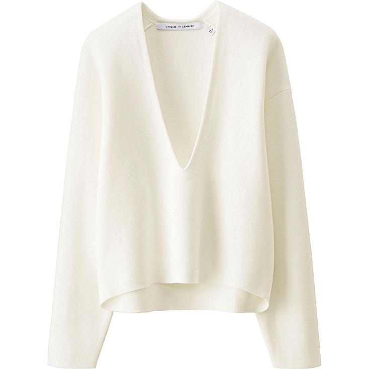 WOMEN LEMAIRE Milano Rib V Neck Sweater