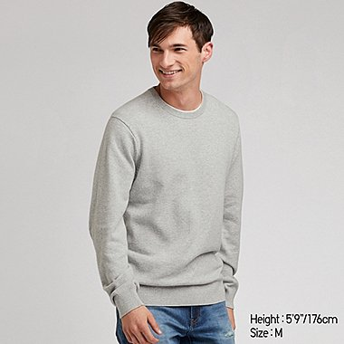 SUPIMA COTTON CREW NECK LONG SLEEVED JUMPER