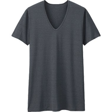 MEN AIRism V Neck T-Shirt (Short Sleeve)