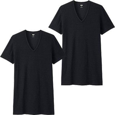 T-Shirt Coton Supima Col V Manches Courtes 2P HOMME
