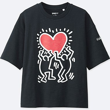 WOMEN SPRZ NY Short Sleeve Graphic T-Shirt (Keith Haring)