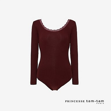 WOMEN PRINCESSE TAM.TAM HEATTECH LONG SLEEVED BODYSUIT
