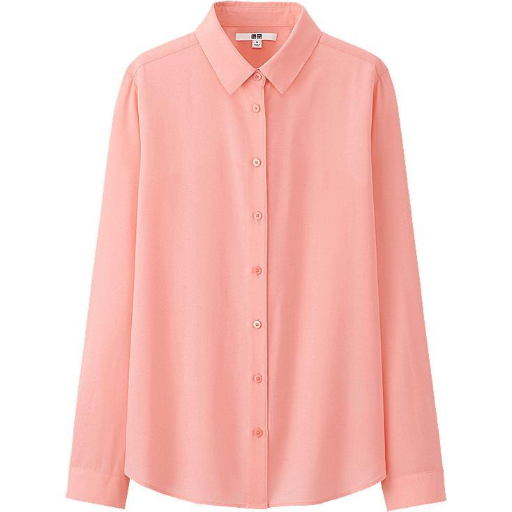 WOMEN Silk Touch Long Sleeve Blouse
