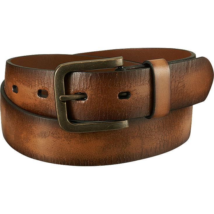 Cinturón cuero italiano agrietado HOMBRE