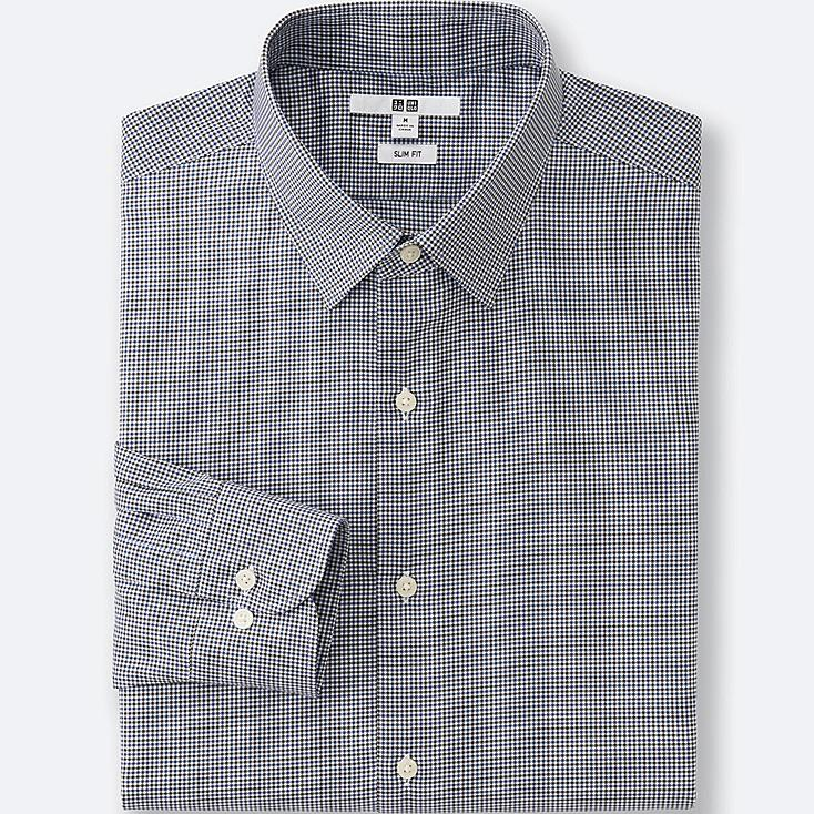 MEN Easy Care Slim Fit Checked Long Sleeve Shirt