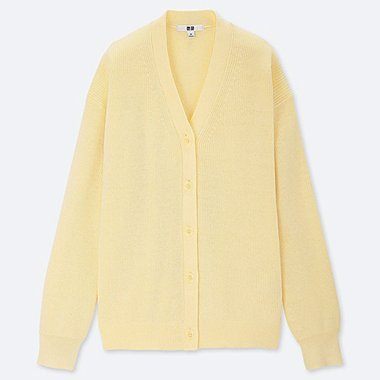 7bc082372be1a WOMEN COTTON CASHMERE V NECK CARDIGAN