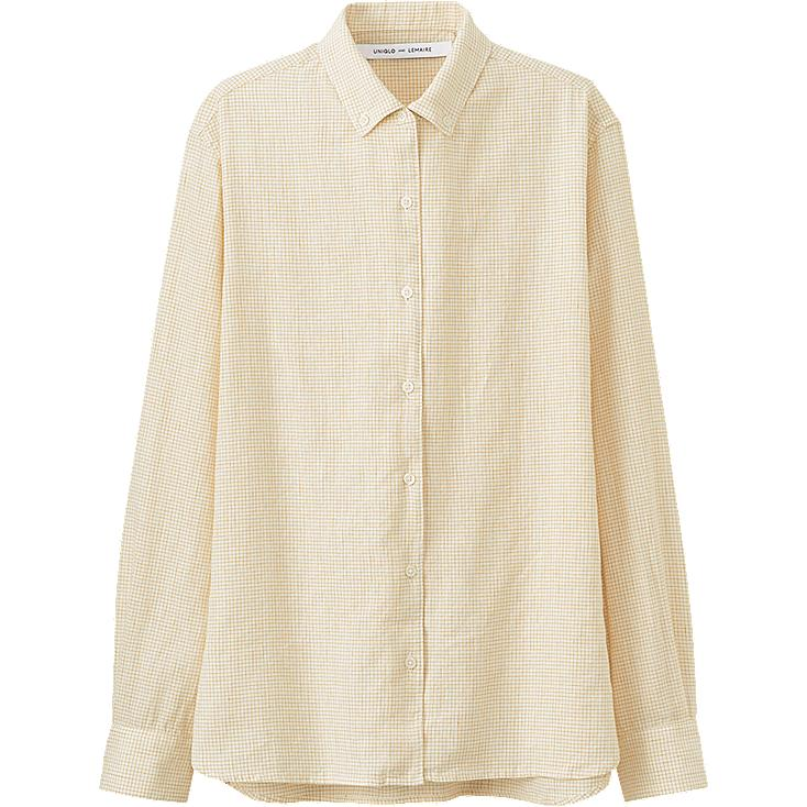 WOMEN LEMAIRE Linen Cotton Patterned Long Sleeve Shirt