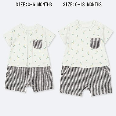 BABIES NEWBORN PALM TREE PRINT ALL IN ONE OUTFIT