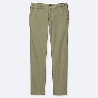 MEN REGULAR FIT VINTAGE FLAT FRONT CHINO TROUSERS