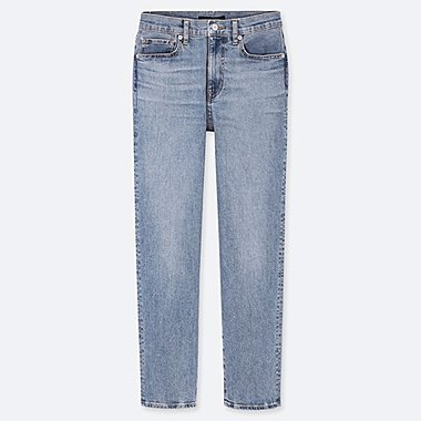 WOMEN HIGH RISE STRAIGHT FIT JEANS (L28)