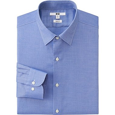 MEN Easy Care Oxford Slim Fit Long Sleeve Shirt