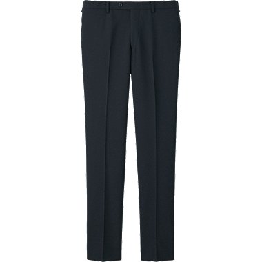 MEN Stretch Wool Slim Fit Flat Front Trousers