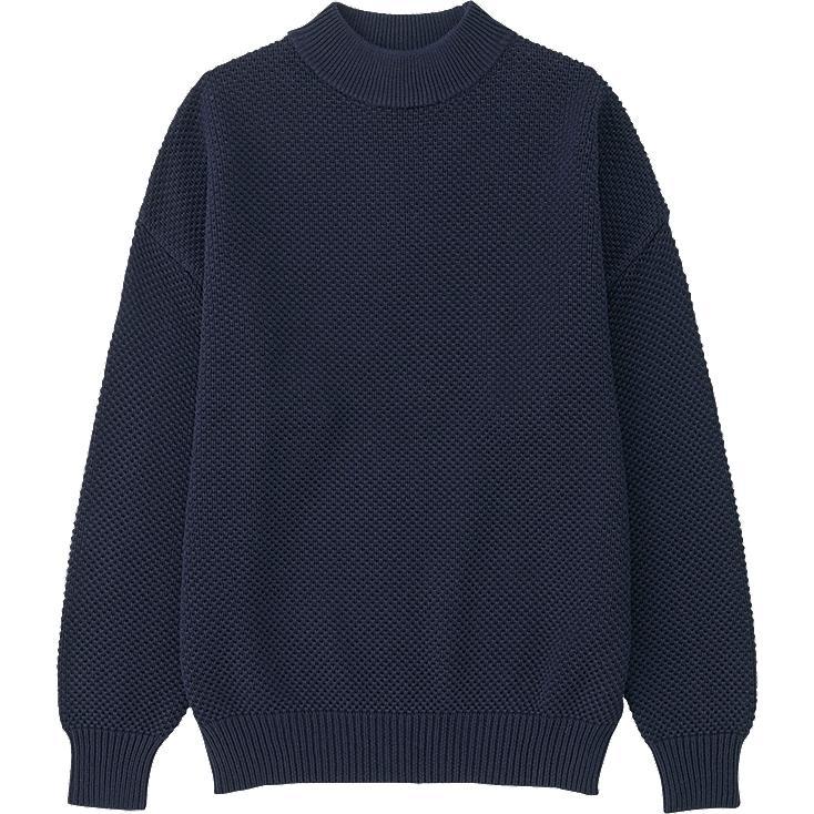 WOMEN Cotton Oversized High Neck Sweater