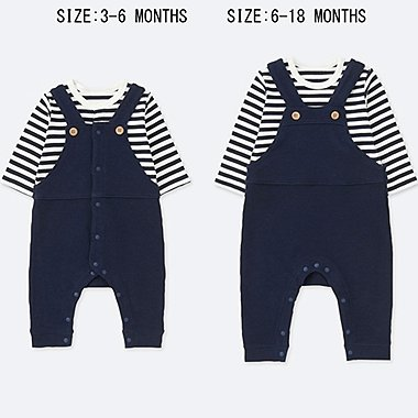 BABIES NEWBORN COORDINATE LONG SLEEVE ONE PIECE OUTFIT
