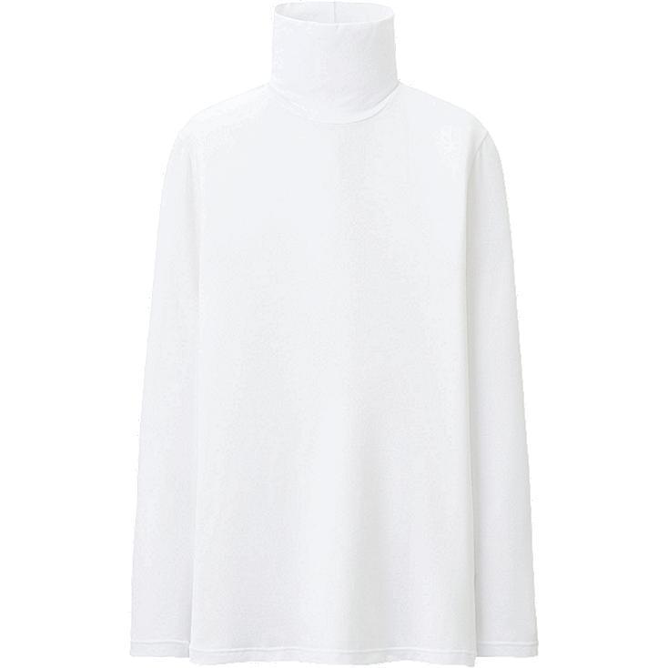 WOMEN HEATTECH Polo Neck Long Sleeve T-Shirt