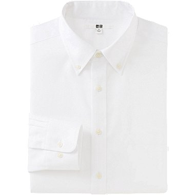 MEN EASY CARE OXFORD LONG SLEEVE SHIRT, WHITE, medium