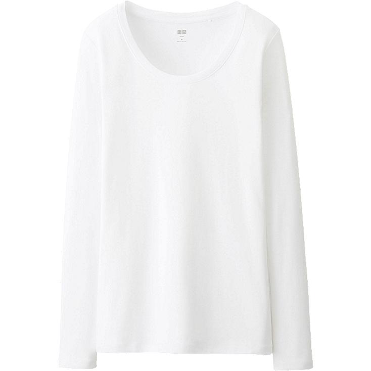 WOMEN Supima Cotton Modal Crew Neck Long Sleeve T-Shirt