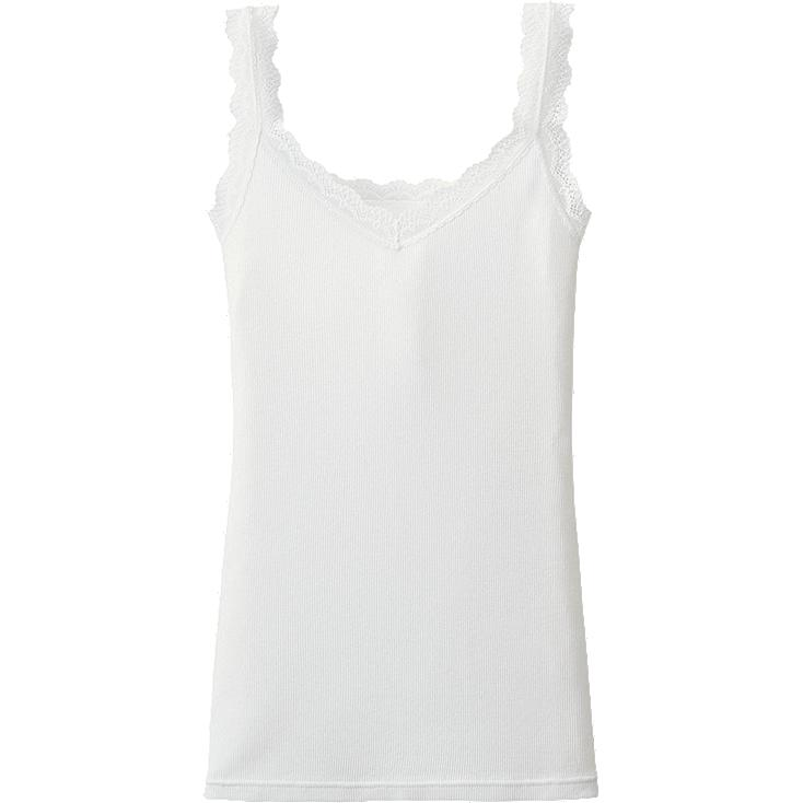 WOMEN 2 Way Rib Laced Tank Top