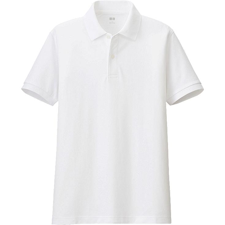 MEN'S DRY PIQUE COLORBLOCK POLO SHIRT, WHITE, large